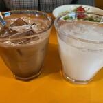 欧風食堂 カンパーニャ - アイスコーヒーとカルピスウオーター