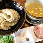 会津ばんだいラーメン - 料理写真:この日の限定✨真鯛と蛤の塩昆布水つけ麺 1000円
