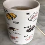 154597996 - 冷たいお茶(王将回転寿司時代?)