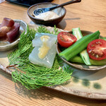 154599834 - ○自家製こんにゃくと季節の野菜3種様