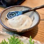 154599836 - 夏野菜を食べるのに出てきた豆乳マヨネーズが柔い味わいで良かった♡