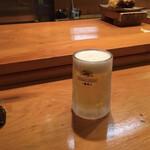 鮨処やまと - とりあえず生ビールから