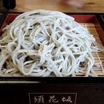 須花坂公園 憩い館 - 盛り蕎麦 大盛り 600円