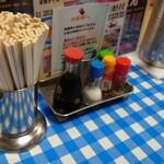 お好み食堂 伊東 - 料理写真:テーブルの卓上
