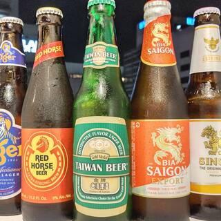 アジアのクラフトビールを各種ご用意しております。