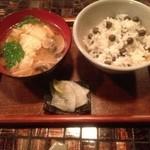 糧屋TOKI - 後輩の〆選択は「むかごご飯」(1人分)