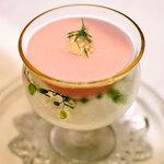 ルルソンキボア - 桃の冷製スープ