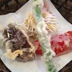 いばらき食彩香寿亭 - 海老しんじょうといばらき野菜の天麩羅