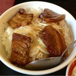 明華 - ミニ豚肉角煮丼