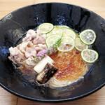らぁ麺 ふじ松 - 酢橘と昆布水の和え冷やし900円