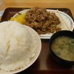 キッチンオトボケ - ジャンジャン焼定食大盛り