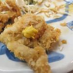 季節料理 西田 - カツは塩と辛子で食べたのが美味しかった