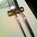 ラッフィナート - カトラリーレストがありますが、お料理ごとに交換して下さいます。