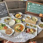 旬野菜とごはん ふくや - 近頃では珍しい「現物のサンプルメニュー」 とてもわかりやすい!