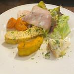 ラ・バルカッチャ - カラフルな前菜盛り合わせ 見た目にも満足
