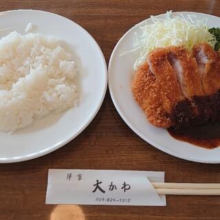 洋食 大かわ - 料理写真:ロースカツ
