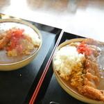 舟宿 - 海老カレー(900円)とカツカレー(800円)
