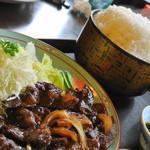 舟宿 - ビーフ焼肉定食(1,600円)