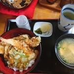 食事処 せきぐち - あなご天丼 1,400円(税込)