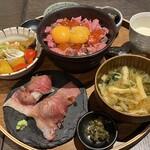 肉牧場 コマツバラファーム - 一汁五菜 肉寿司御膳