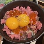 肉牧場 コマツバラファーム - 肉いくら丼
