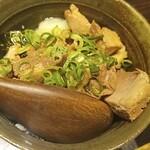 麺匠 黒春晴 - ニンニク豚めし