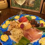 ニジイロ アルコバレーノ - 料理写真:前菜盛り合わせ 600円