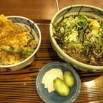15472741 - 三久 豚ロース天丼と茶そばセット
