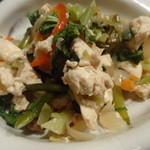 かすみ亭 - 野菜たっぷりの炒り豆腐