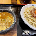 つけ麺丸和 - カレーつけ麺+台湾ミンチ+生玉子
