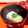 松見坂 小林 - 料理写真:生湯葉ととうもろこしの真薯 京都の久世茄子
