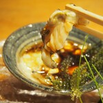 錦 - アワビ肝醤油