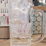 濱横酒場 - 中焼酎260円