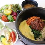 野菜レストラン ショウナン - チーズ石焼きビビンバ(サラダバー、スープ、味噌汁、デザート食べ放題付)