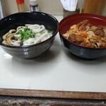 まんぷく食堂 - 新福定食(ぷちからあげ丼とイセうどんセット)
