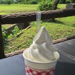 とうふ工房 わたなべ - 料理写真:豆乳ソフトミニ 250円