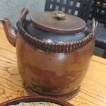 蓮玉庵 - なんと蕎麦湯は銅製の薬缶で!