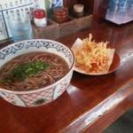 鐘庵 - 料理写真:桜海老カキアゲ蕎麦