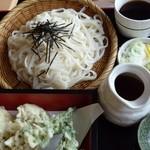 上州麺処 平野家 - 舞茸天ざるうどん 大盛
