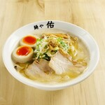 麺や佑 - 鶏魚豚らーめん味玉入り