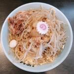 自家製麺 No11 - 料理写真:ラーメン(ちょい野菜、ニンニク)
