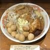 火の豚 - 料理写真:ラーメン(コール:ニンニク) + うずら + うずら