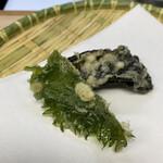 天ぷら はせ川 - サクサクの大葉の天ぷらと茄子天♡