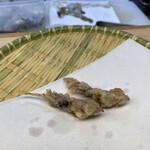 天ぷら はせ川 - 旬のホタルイカ。旨みがギュギュギュ♡