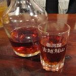 源烹輪 麺篠居士 - 瓶だし紹興酒 一合840円