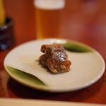 喜寿司 - お通し:鰻