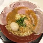 えびそば 金行 - 海老味噌拉麺(890円)+レアチャーシュー増し(200円)+煮卵(100円)