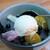 梅むら - クリームみつ豆(650円)。
