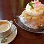 zafunatsuya - 「桃山」とセットドリンク「コーヒー」。