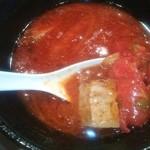 濃厚な海老トマトスープ